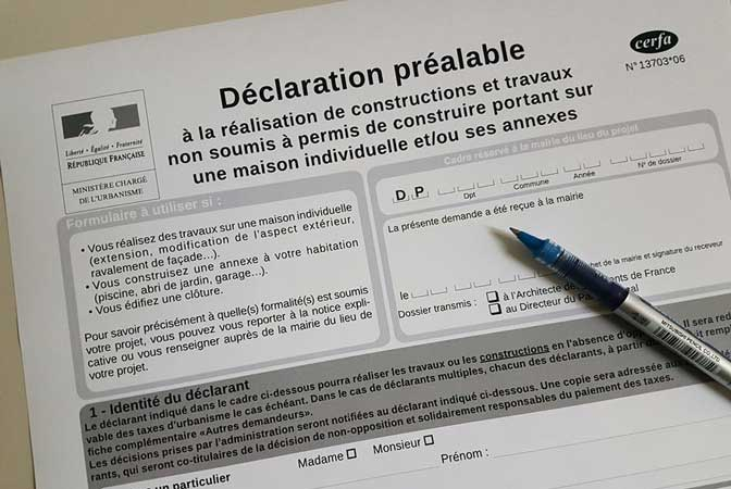 declaration prealable travaux toiture