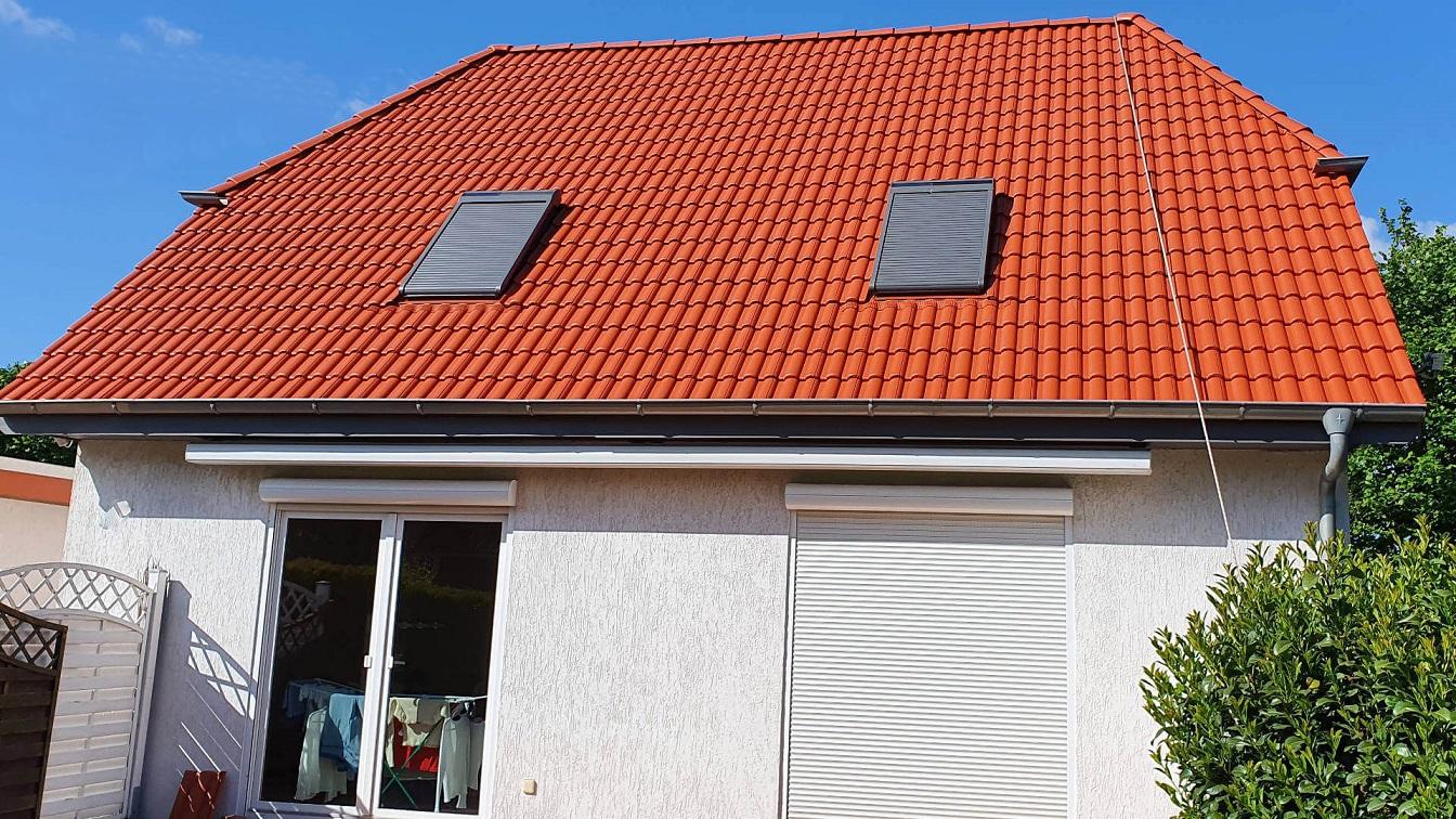 Chantier aprés nettoyage toiture