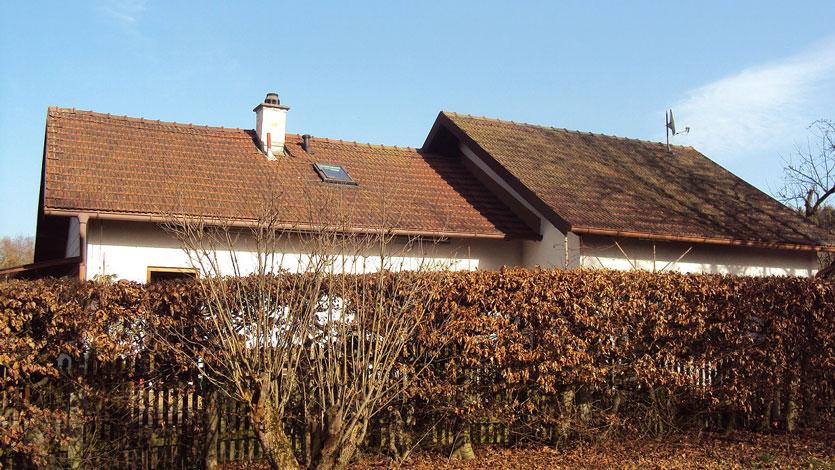 Chantier avant rénovation de la toiture